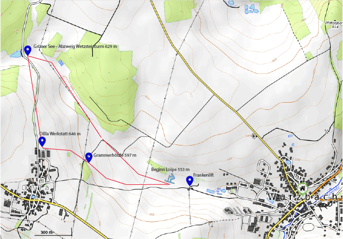 Langlaufroute Oßla | Frankenlift Wurzbach